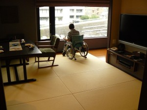 Inside of the accessible room
