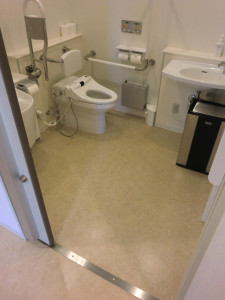 Accessible bathroom on the 1st floor