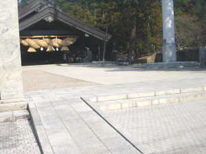 In front of the Kaguraden Hall