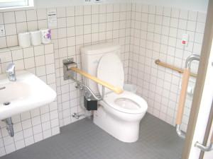 Inside the multipurpose bathroom in the Chōnoya Building
