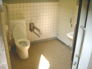 Inside the multipurpose bathroom beside the Taisha Bus Terminal