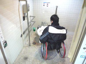 Inside of the accessible bathroom 1