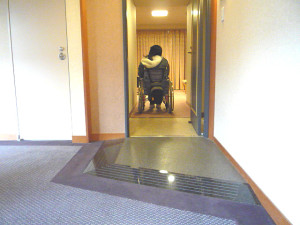 Entrance to the accessible room