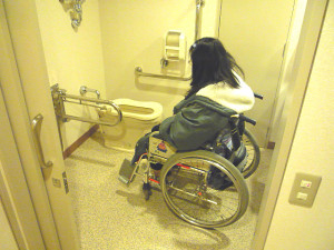 Accessible bathroom inside the accessible room