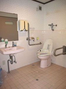 Inside of accessible bathroom in the building