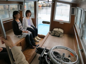Inside of Kuniga pleasure boat