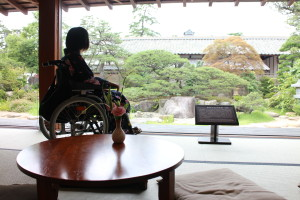 View of Matsue Castle from the Japanese room