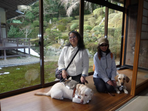 Picture in front of Sesshū's Garden