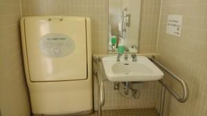 Accessible bathroom in Tottori Hanakairo-Flower Park